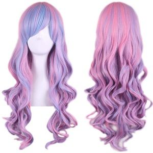 """Accessories - ✨Anaisee 26"""" pink blue 2 tone cutesy cosplay wig✨"""